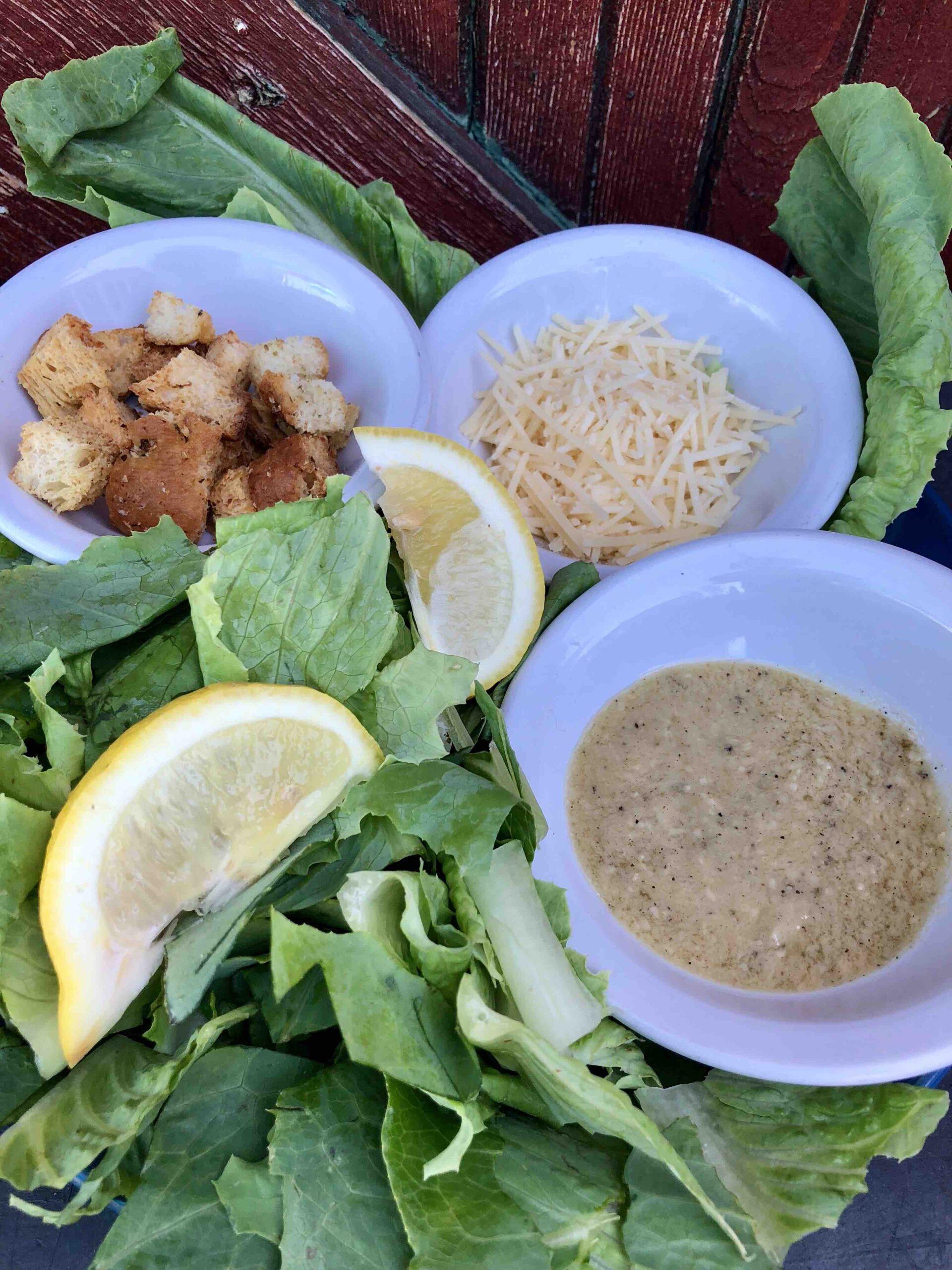 caesar salad (vegetarian or vegan!!!)