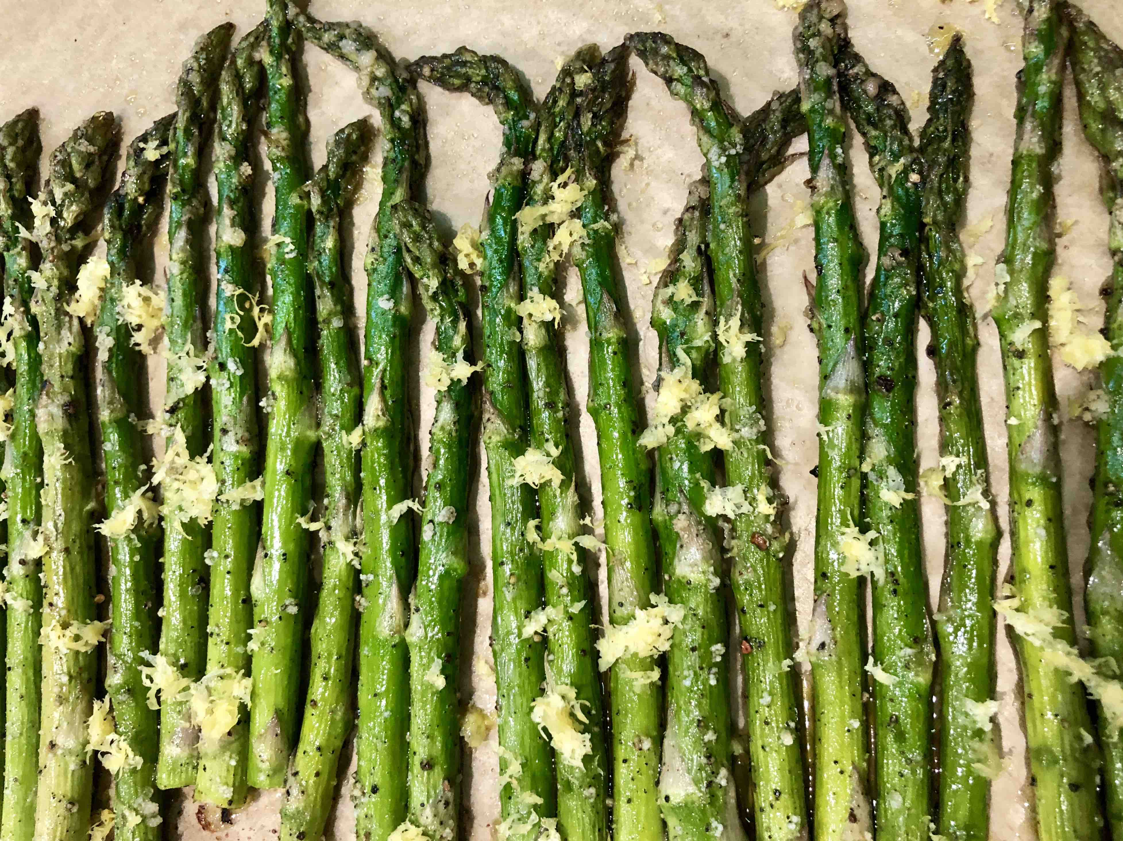 roasted asparagus feat. lemon zest