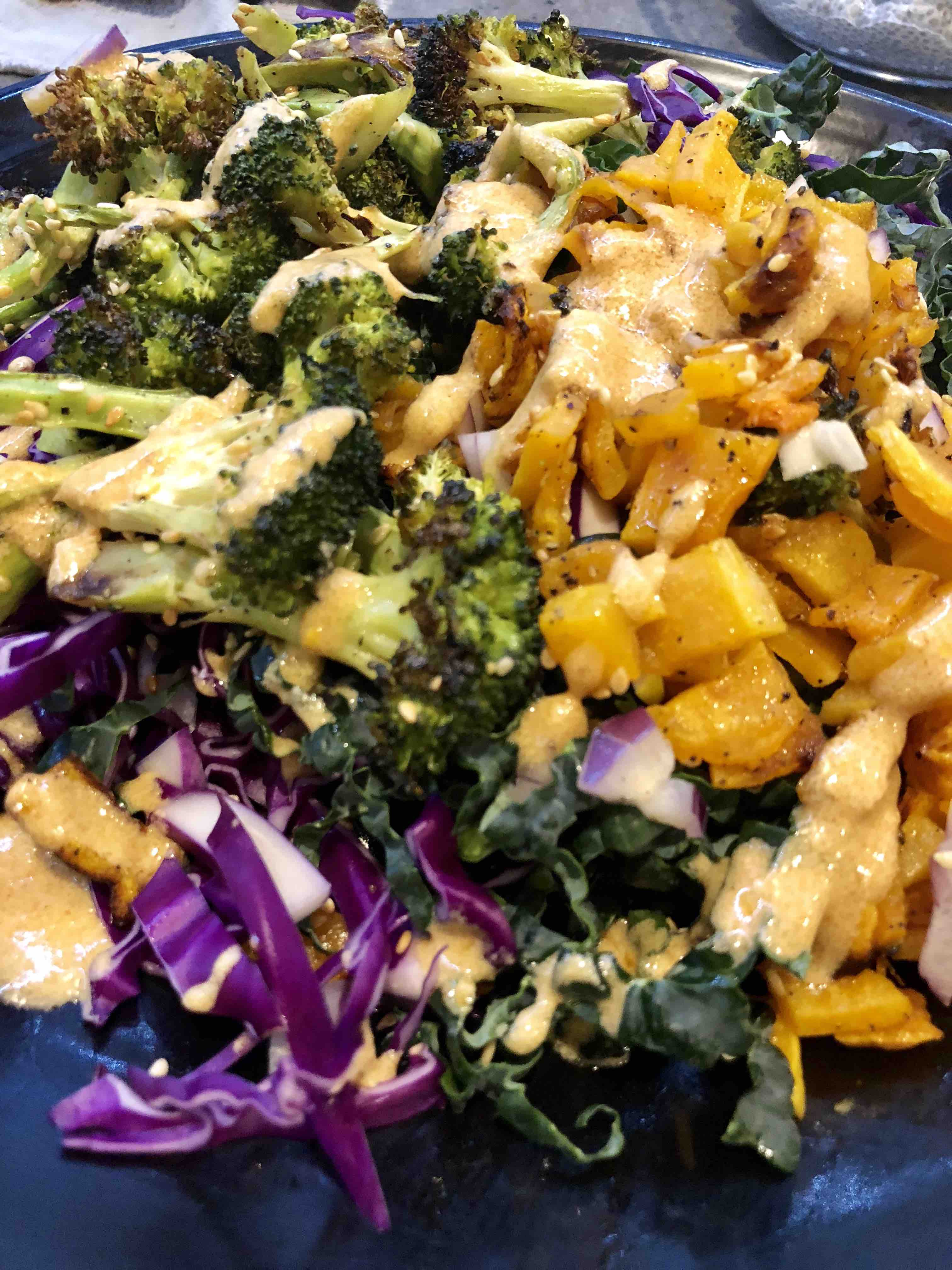roasted broccoli/butternut+tahini!