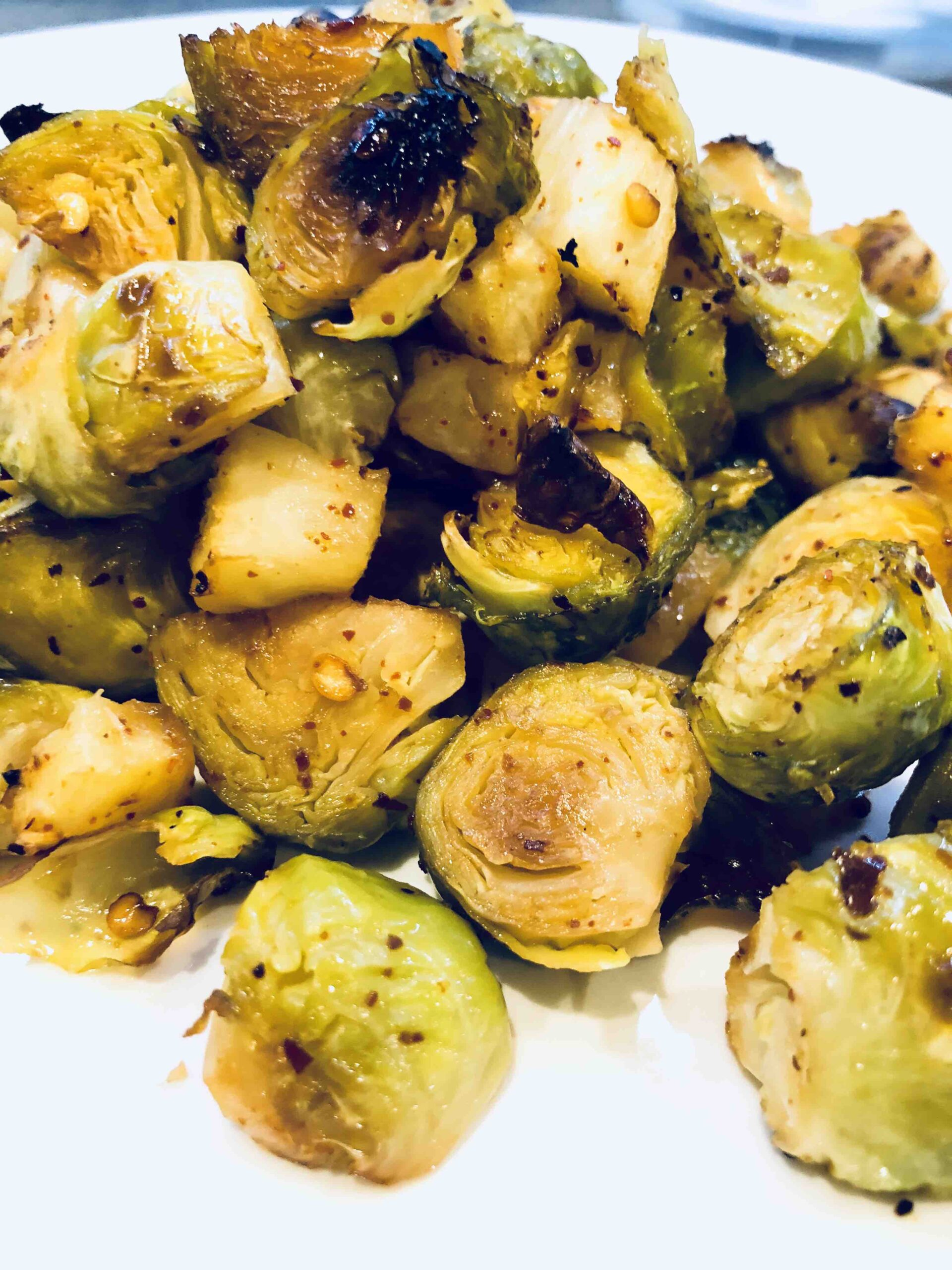 pineapple roasted brussel sprouts