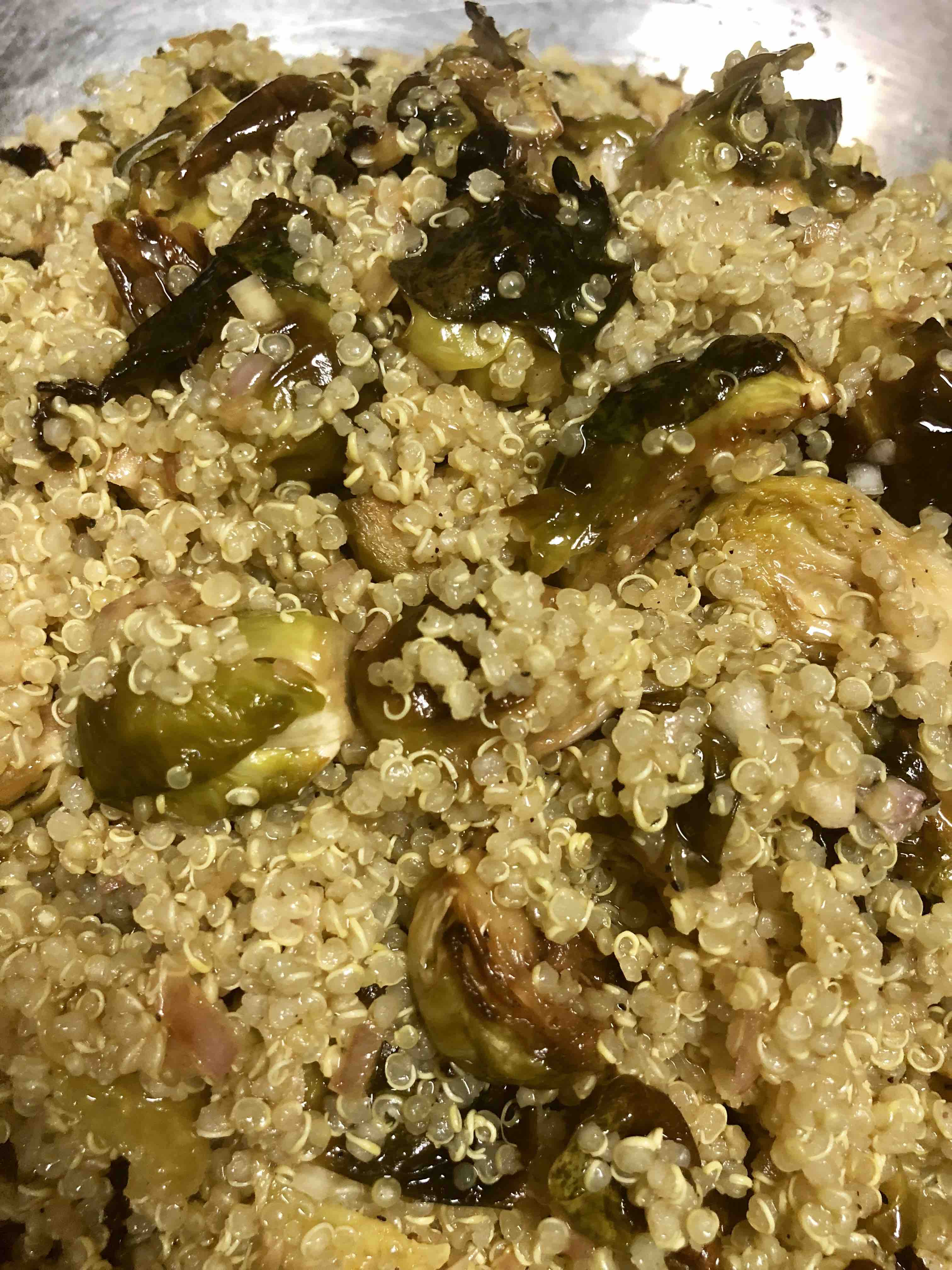 shilo's brussel sprout quinoa
