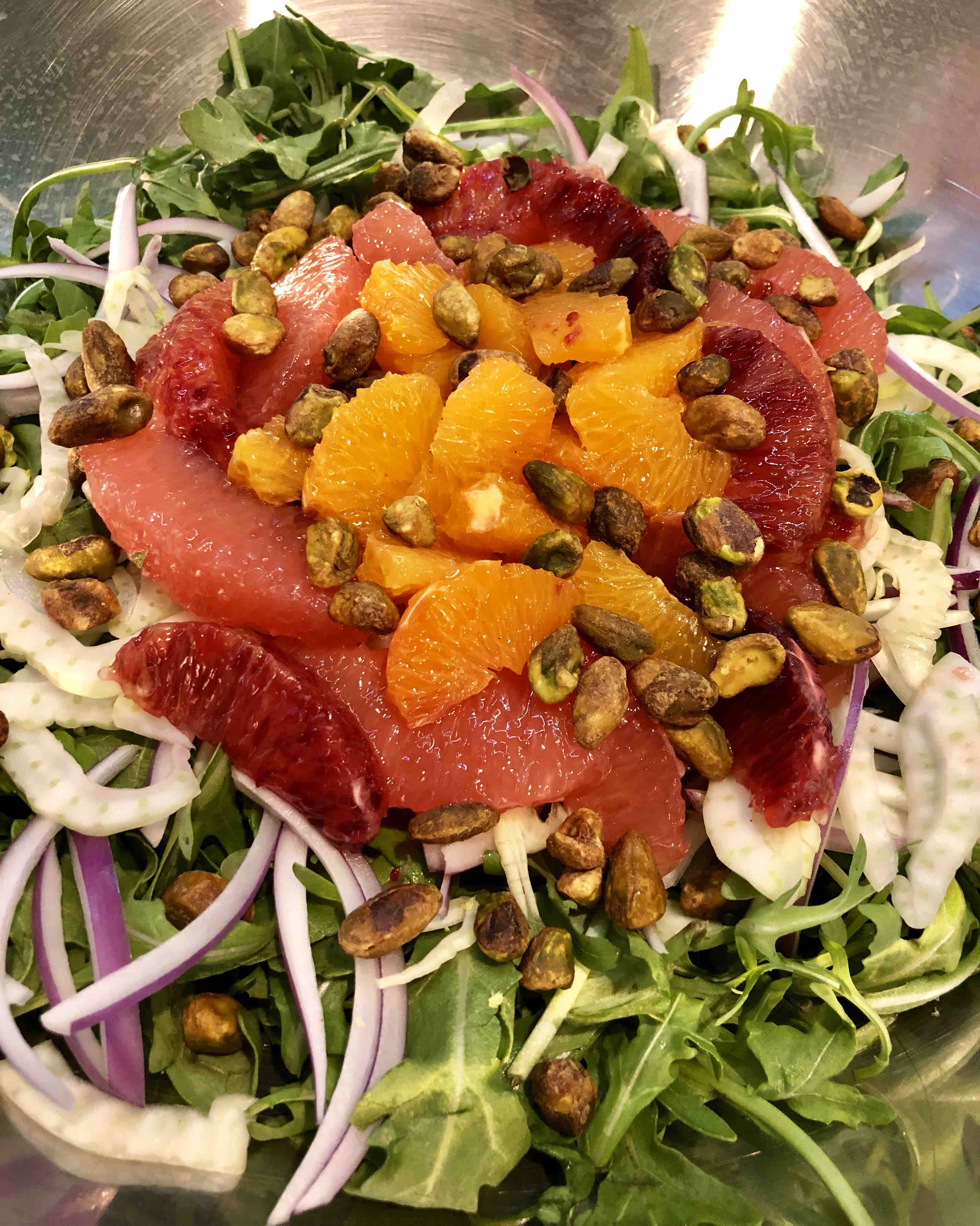 citrus party and fennel salad