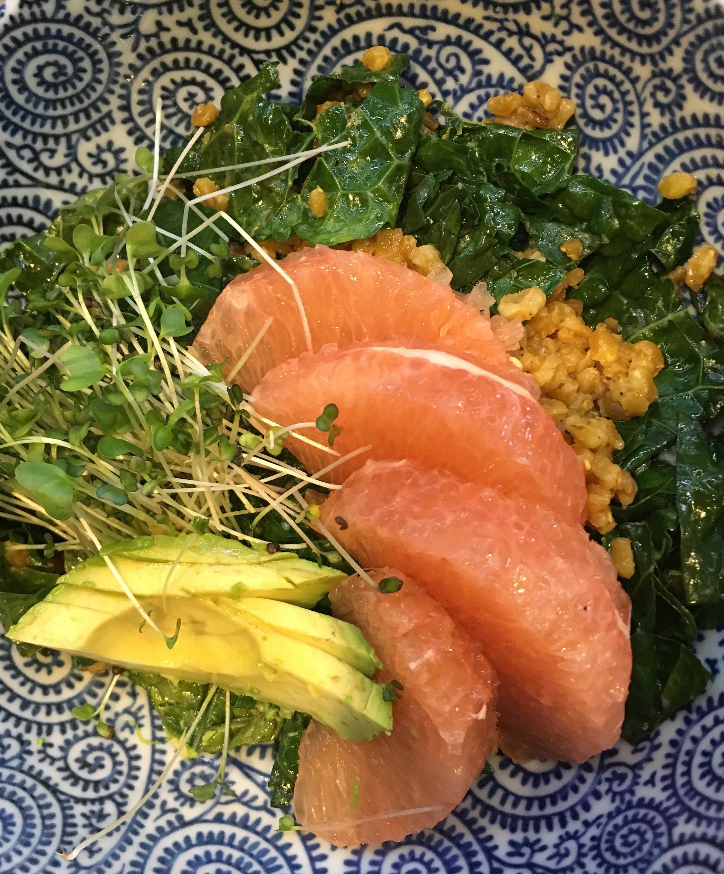 farro+kale salad